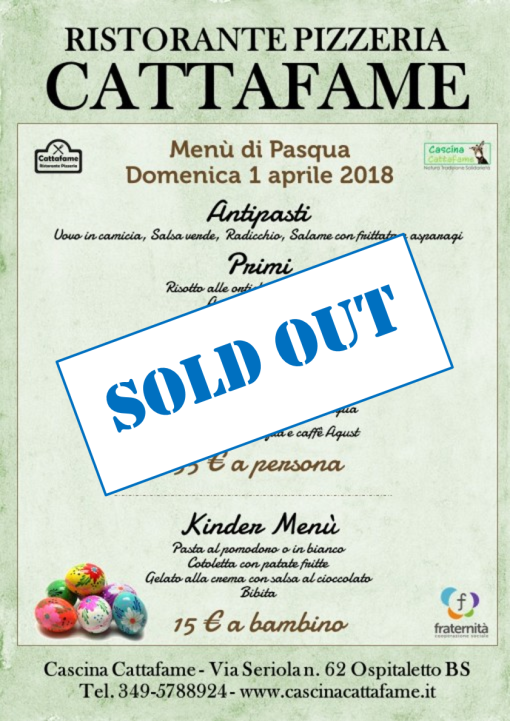 pasqua sold out
