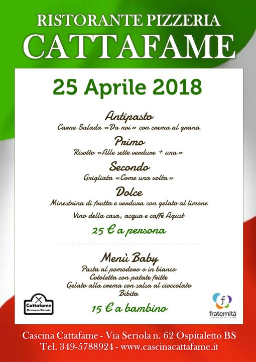 Locandina 25 aprile 2018